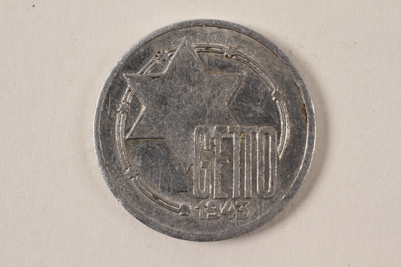 1996.74.7 front Łódź (Litzmannstadt) ghetto scrip, 10 mark coin