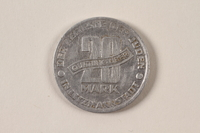 1996.74.9 back Łódź (Litzmannstadt) ghetto scrip, 20 mark coin  Click to enlarge