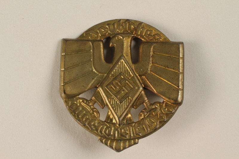 "1996.75.13 front Hitler Youth ""Youthfest"" badge"