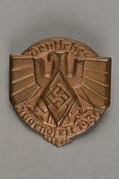 1996.75.19 front Hitler Youth [Hitler Jugend/Bund Deutscher Mädel] badge  Click to enlarge