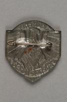 1996.75.19 back Hitler Youth [Hitler Jugend/Bund Deutscher Mädel] badge  Click to enlarge