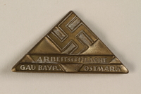 1996.75.24 front Nazi labor service badge  Click to enlarge