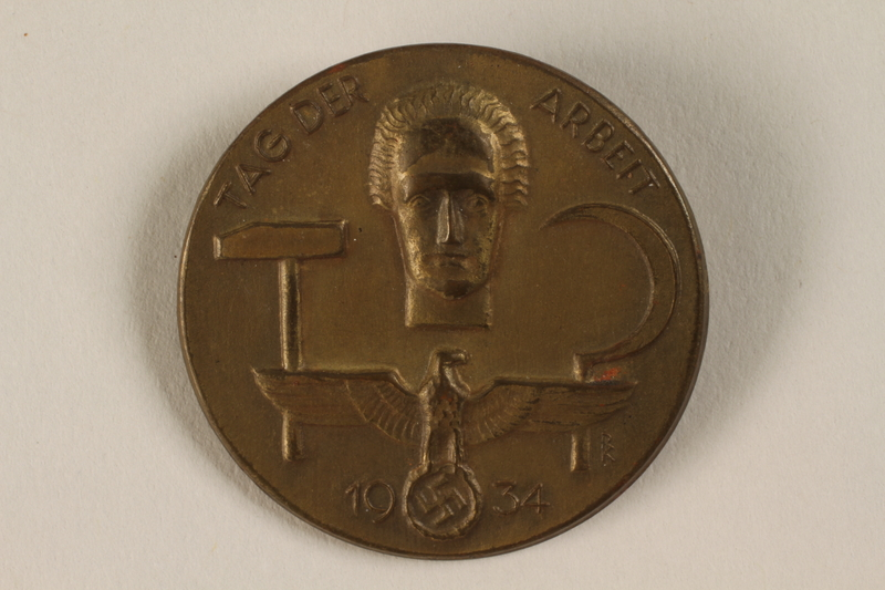 1996.75.35 front Nazi Labor Day badge.