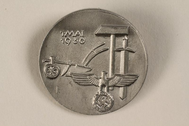 1996.75.40 front Nazi Labor Day badge