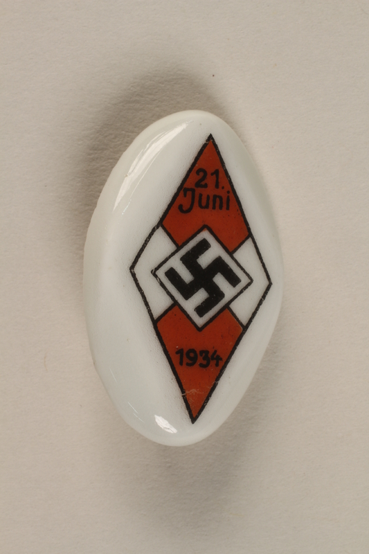 1996.75.44 front Hitler youth badge