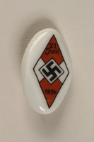 1996.75.44 front Hitler youth badge  Click to enlarge