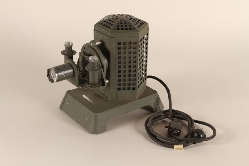 1996.77.1.1_a front Filmstrip projector used by the Nazi Party to distribute propaganda