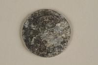 1996.91.3 back Łódź (Litzmannstadt) ghetto scrip, 5 mark coin  Click to enlarge