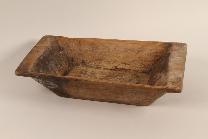 1989.332.1 front Drinking trough used in a Romani encampment
