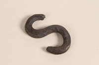 1989.332.4 front Blacksmith's S-hook used in a Romani encampment  Click to enlarge