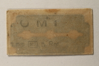 1997.112.6_e front Razor blades issued to a US soldier while held as a POW in a German Stalag  Click to enlarge