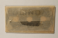 1997.112.7_c front Box of razor blades issued to a US soldier while held as a POW in a German Stalag  Click to enlarge