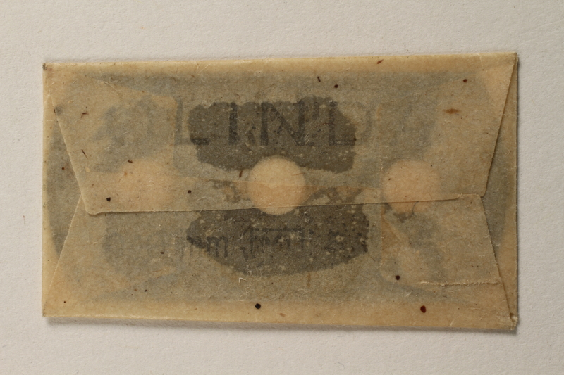 1997.112.7_h front Box of razor blades issued to a US soldier while held as a POW in a German Stalag