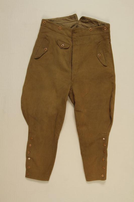 1997.116.2.2 front SA uniform trousers