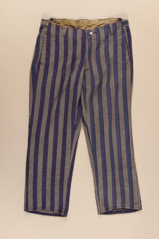1997.122.2 front Concentration camp inmate uniform pants