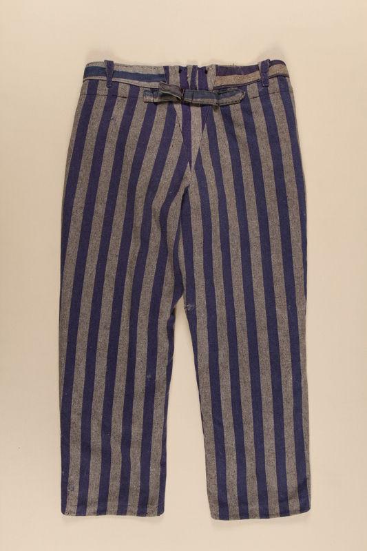 1997.122.2 back Concentration camp inmate uniform pants