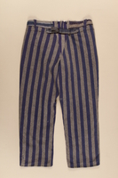 1997.122.2 back Concentration camp inmate uniform pants  Click to enlarge