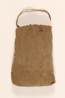 1997.31.2 front Drawstring cloth pouch handmade by a Lithuanian Jewish concentration camp inmate  Click to enlarge