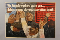 1989.34.1 front Poster created by Ben Shahn for the War Production Board  Click to enlarge