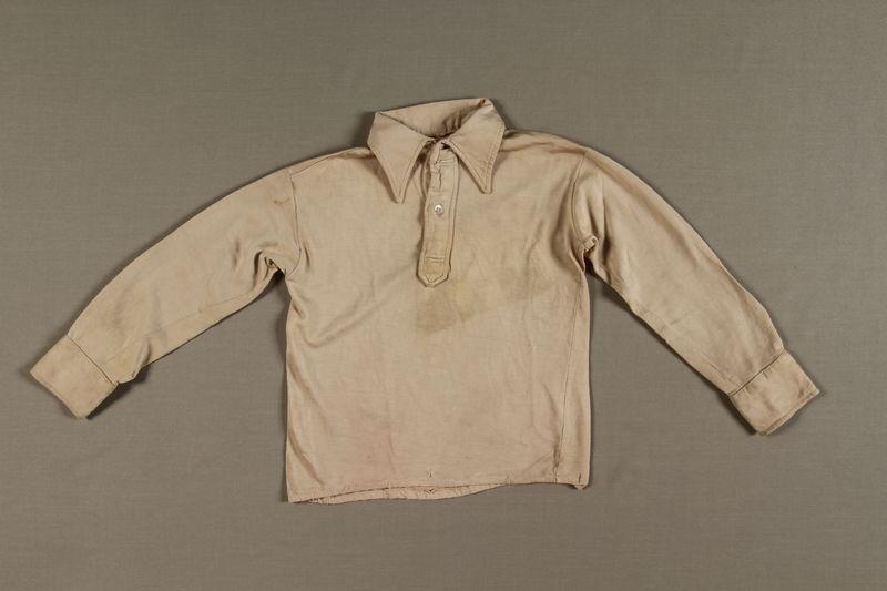 1997.78.1 front Shirt worn by former prisoner of Auschwitz upon liberation