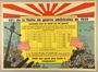 Propaganda poster reporting United States Navy fleet losses to Japan