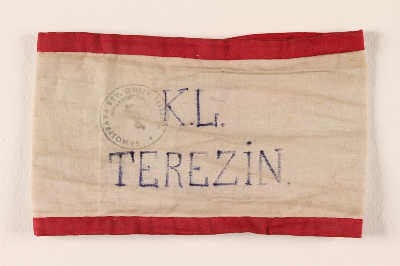 1998.143.1 front Armband worn in Theresienstadt concentration camp