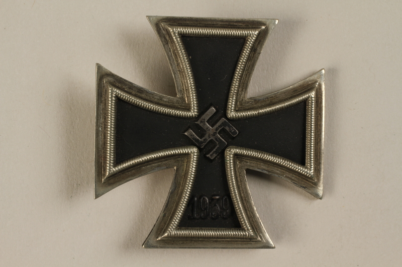 1998.55.1.1 front WWII Iron Cross 1st Class medal