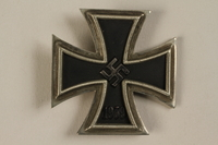 1998.55.1.1 front WWII Iron Cross 1st Class medal  Click to enlarge