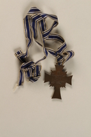 1998.58.1 back Cross of Honor of the German Mother medal, 3rd Class Order, Bronze Cross  Click to enlarge