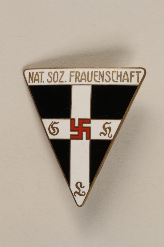1998.58.3 front National Socialist Frauenschaft [Women's Union] badge