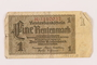 Nazi Germany 1 (eine) Rentenmark note