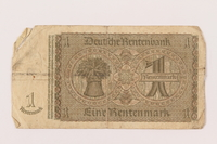 1998.62.10 back Nazi Germany 1 (eine) Rentenmark note  Click to enlarge