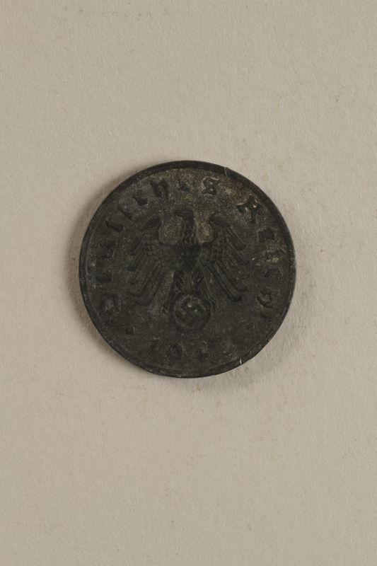 1998.62.48 front Nazi Germany, 1 reichspfennig coin