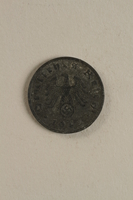 1998.62.48 front Nazi Germany, 1 reichspfennig coin  Click to enlarge