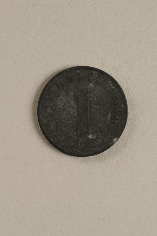 1998.62.48 back Nazi Germany, 1 reichspfennig coin