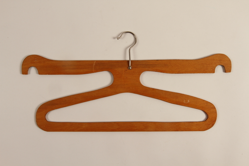 1998.65.1_i front Three hangers for a wardrobe trunk used by German Jewish refugees on the MS St. Louis