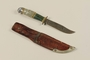 Hunting knife with leather sheath used by Lithuanian labor camp inmate