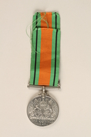 1999.180.2 back Defence Medal 1939-1945 and ribbon awarded to a Jewish medical officer, 2nd Polish Corps  Click to enlarge
