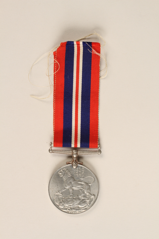 1999.180.3 front War Medal 1939-1945 with ribbon awarded to a Jewish medical officer, 2nd Polish Corps