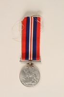 1999.180.3 front War Medal 1939-1945 with ribbon awarded to a Jewish medical officer, 2nd Polish Corps  Click to enlarge