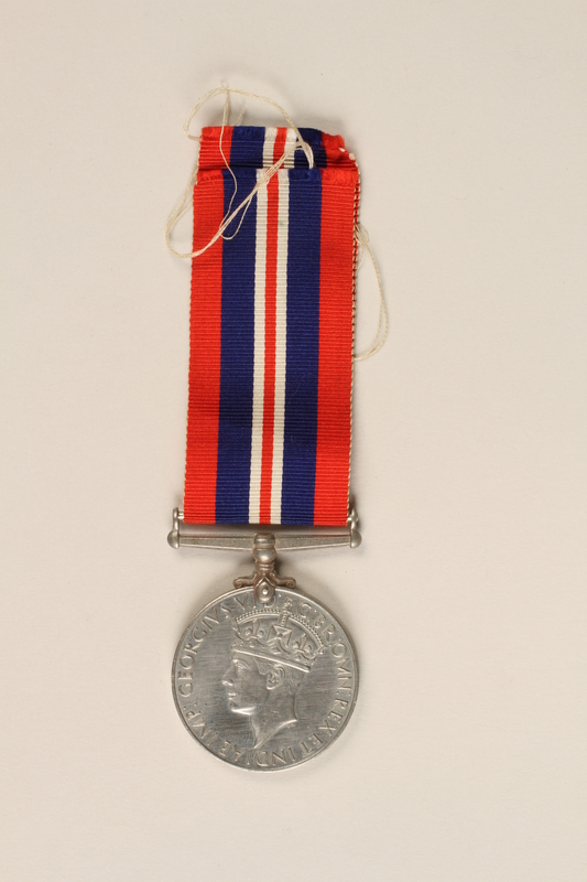 1999.180.3 back War Medal 1939-1945 with ribbon awarded to a Jewish medical officer, 2nd Polish Corps