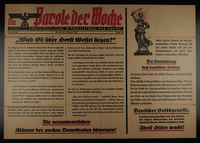 1999.199.4 front Nazi Party poster stamp  Click to enlarge