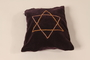 Purple velvet tallit pouch made by a woman for her fiance in a DP camp