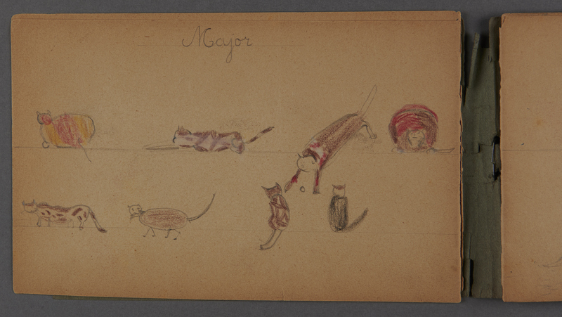 1999.75.2_page_4 Notebook of drawings created by Jewish boy after disembarkation from the MS St. Louis in Belgium