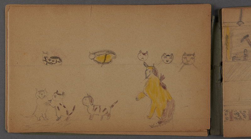 1999.75.2_page_5 Notebook of drawings created by Jewish boy after disembarkation from the MS St. Louis in Belgium