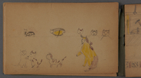 1999.75.2_page_5 Notebook of drawings created by Jewish boy after disembarkation from the MS St. Louis in Belgium  Click to enlarge