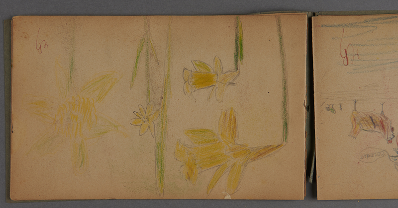1999.75.2_page_9 Notebook of drawings created by Jewish boy after disembarkation from the MS St. Louis in Belgium