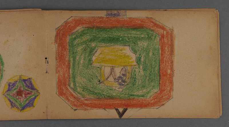 1999.75.2_page_10 Notebook of drawings created by Jewish boy after disembarkation from the MS St. Louis in Belgium