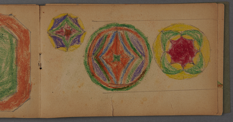 1999.75.2_page_11 Notebook of drawings created by Jewish boy after disembarkation from the MS St. Louis in Belgium