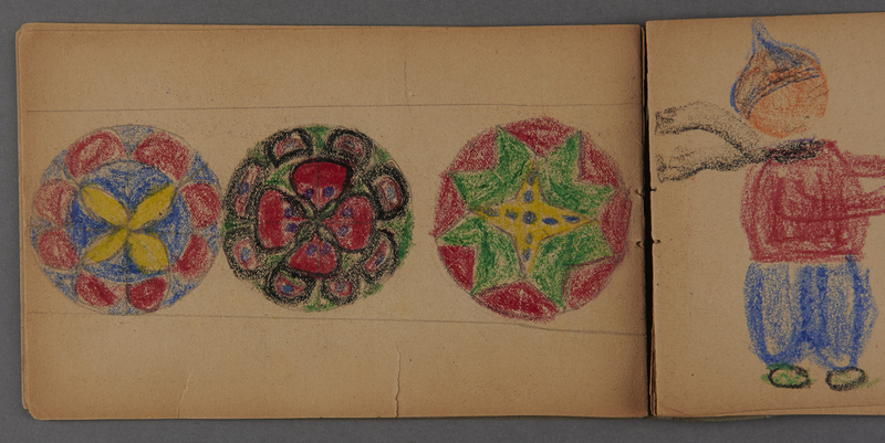 1999.75.2_page_12 Notebook of drawings created by Jewish boy after disembarkation from the MS St. Louis in Belgium